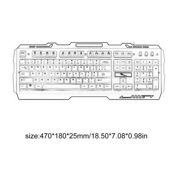 G700 jeu lumineux filaire USB souris et clavier costume avec arc-en-ciel rétro-éclairage LED lumières clavier mécanique souris de jeu
