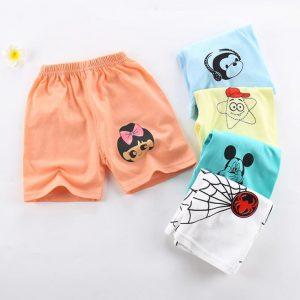 Shorts d'été en coton pour garçons filles | À rayures, motifs d'animaux, styles PP pour enfants, Shorts de plage pour nouveau-né