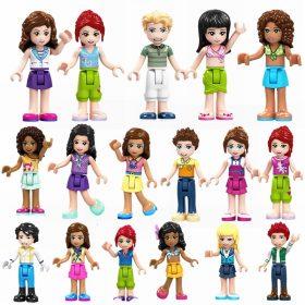 8 ensembles fille amis Mia Olivia Emma Andrea Martina Stephanie célébration Figure blocs Construction Construction jouets pour enfants