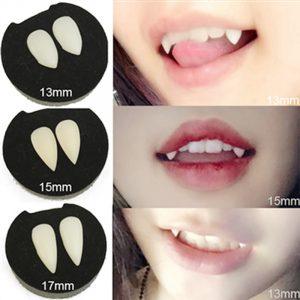 4 taille Vampire dents crocs dentiers accessoires accessoires de déguisement d'halloween fournitures de fête vacances bricolage décorations horreur adulte pour les enfants
