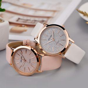 2019 YOLAKO femmes décontracté Quartz bracelet en cuir étoilé ciel montre analogique montre-bracelet analogique montre-bracelet de luxe Reloj femenino