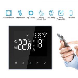 Contrôleur de température pour chauffe-eau électrique | Chaudière à gaz, avec écran Lcd, Thermostat intelligent Wifi, commande App