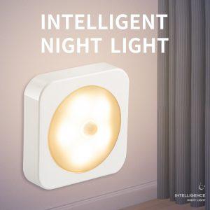 Intellig LED veilleuse Mini capteur de lumière contrôle batterie Charge veilleuse lampe pour enfants enfants salon chambre éclairage