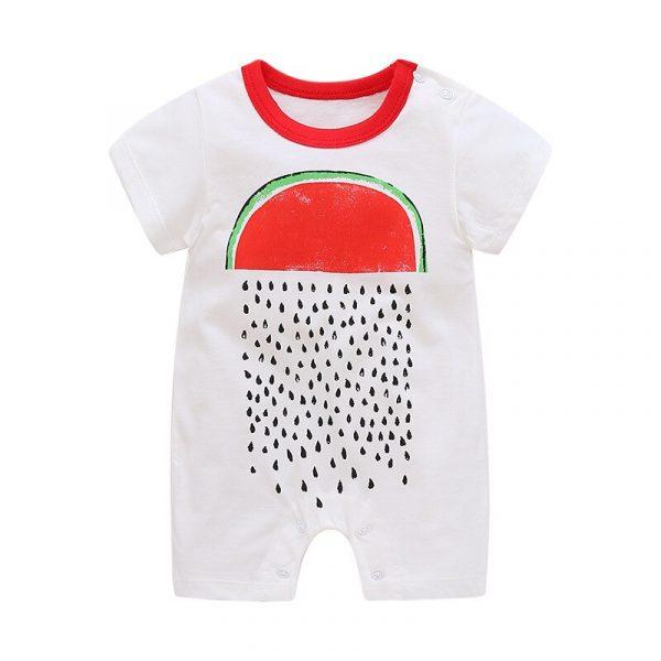 Été nouveau Style à manches courtes filles robe bébé barboteuse coton nouveau-né Body costume bébé pyjama garçons Animal singe barboteuses 2020 chaude