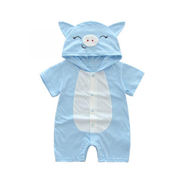 Combinaison infantile été barboteuse animal impression fille garçon coton costume nouveau-né escalade dessin animé barboteuses pas cher trucs bébé produits