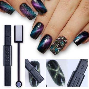 3D oeil de chat ongle bâton magnétique 12 en 1 aimant conseil stylo pour chat oeil Gel vernis à ongles acrylique charme ligne bande bricolage outil CH948-1