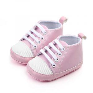 Chaussures de bébé à semelle souple | Chaussures antidérapantes de couleur unie, pour bébés filles et garçons, chaussures de premiers marcheurs, mignonnes pour printemps et automne, nouvelle collection