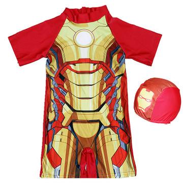 Maillot de bain une pièce pour enfants | Avec cape, modèle super héros, imprimés de dessin animé, costume de bain pour garçons