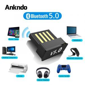 Adaptateurs Bluetooth USB BT 5.0 USB adaptateur d'ordinateur sans fil récepteur Audio émetteur Dongles écouteurs pour ordinateur portable BLE Mini expéditeur