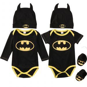 Batman-ensemble vêtements pour nouveau-né | Chaussures, Costumes chapeau, 3 pièces, combinaisons d'halloween, ensembles vêtements pour bébé garçon et fille, ensembles d'été et d'automne