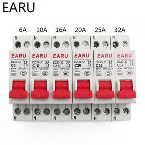 Mini disjoncteur DPN 1P + N | MCB 6A 10A 16A 20A 25A 32A Din Rail, interrupteur d'air Miniature ménager, OEM bricolage