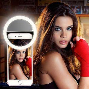 Selfie anneau téléphone portable pince lentille lumière lampe Litwod Led ampoules d'urgence batterie sèche pour appareil Photo bien Smartphone beauté