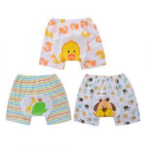 Shorts PP pour bébés   3 pièces, en coton, tenue d'été légère et respirante, Style Animal, livraison gratuite, QD31