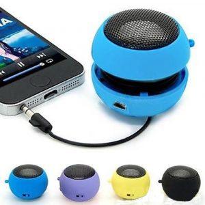 Mini haut-parleurs portables Super basse Colum Spinner musique stéréo Audio musique lecteur MP3 pour téléphone Portable tablette Hamburger haut-parleur