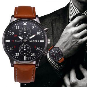 Hommes montre hommes relogio masculino lMontre Homme Design rétro bracelet en cuir analogique alliage Quartz montre-bracelet relojes para hombre # YL5