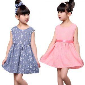 Robe d'été princesse pour filles | Motif Floral, à nœud papillon, en coton et en lin, pour Performance, mignonne