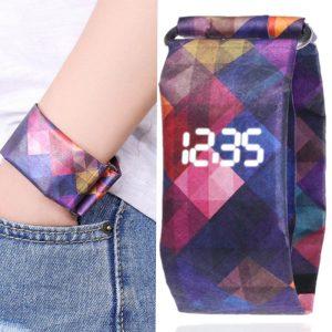2019 tendance créative DuPont papier LED montre numérique hommes femmes étanche bracelet papier Sport étudiant numérique Tyvek montre