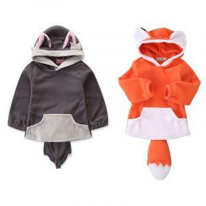 Veste en renard à capuche pour enfants | Costume kawaii, nouvelle collection 2019, pour garçons et filles