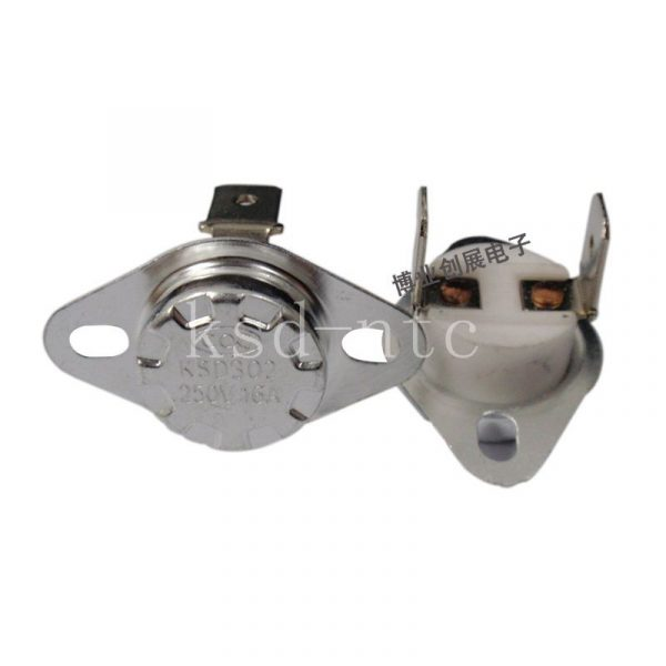 Thermostat KSD301/KSD302 | 40 ~ 300C céramique 16A250V 45C 50C 55C 60C 75C 80C 85C 90C 95C degrés normalement fermé ouvert