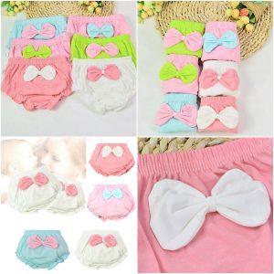 Culotte de sous-vêtements en coton | 1 pièce, 4 couleurs, mignonne culotte à gros nœud pour enfants, slips enfants, cadeaux