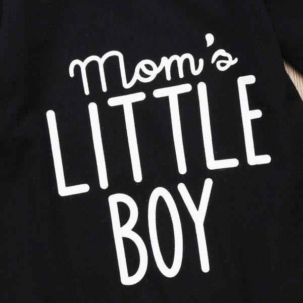 Nouvelle mode 2017   Barboteuse et vêtements noirs pour nouveau-né, pour bébés garçons et petits garçons, combinaison à manches longues
