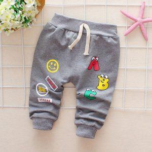 Pantalons pour bébés garçons et filles | Pantalons avec lettres, en coton, pour nouvelles filles, sarouel pour bébés, vêtements de 3 ou 4 ans pour garçons et filles