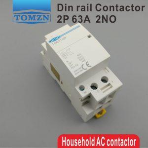 TOCT1 contacteur modulaire 2P 63A   220V/230V 50/60HZ Din rail, ac domestique, 2NO ou 2NC ou 1NO 1NC