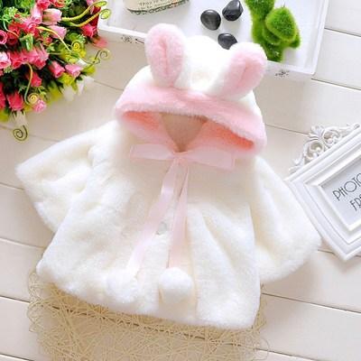 Bébé filles manteau hiver printemps bébé filles princesse manteau veste lapin oreille à capuche vêtements d'extérieur décontractés pour fille nourrissons vêtements