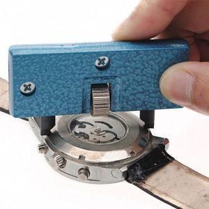 Ouvre-montre coque arrière outil universel réglable Kit de changement de batterie ouvre-couvercle dissolvant vis horloger outils pièces