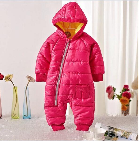 Combinaison de neige pour bébé | Vêtements de neige, en coton rembourré, une pièce, vêtements d'extérieur chauds pour enfants, barboteuse, combinaison d'hiver pour enfants, Parkas pour nouveau-né