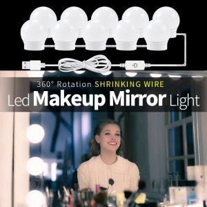 USB LED 12V lampe de maquillage applique murale beauté 2 6 10 14 Kit d'ampoules pour coiffeuse Stepless Dimmable Hollywood vanité miroir lumière