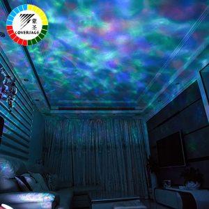 Projecteur d'océan vague livraison directe LED veilleuse télécommande TF cartes lecteur de musique haut-parleur Aurora Projection