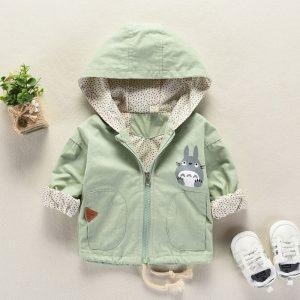 Manteau cptton décontracté printemps-automne | Nouveau-né, bébés garçons et filles, vêtements à capuche, hauts