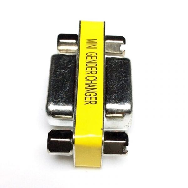 MINI adaptateur de changeur de sexe Com d-sub à mâle femelle VGA connecteur 15pin