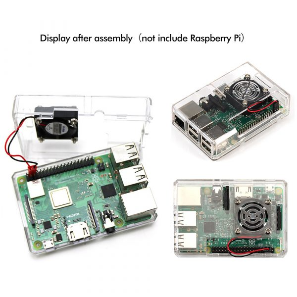 Framboise Pi 3 Modèle B boitier pour Raspberry Pi 3 Modèle B +, Pi 3 Modèle B, Pi 2 Modèle B & Pi Modèle B + (Transparent)