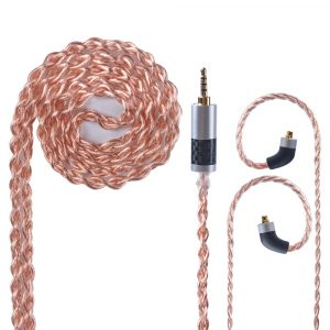 AK OFHC 24 AWG 6N High Purity Copper Cable 2.5/3.5/4.4mm Balanced Earphone Cable With MMCX Connector from Taiwan For HQ8 TIN T2