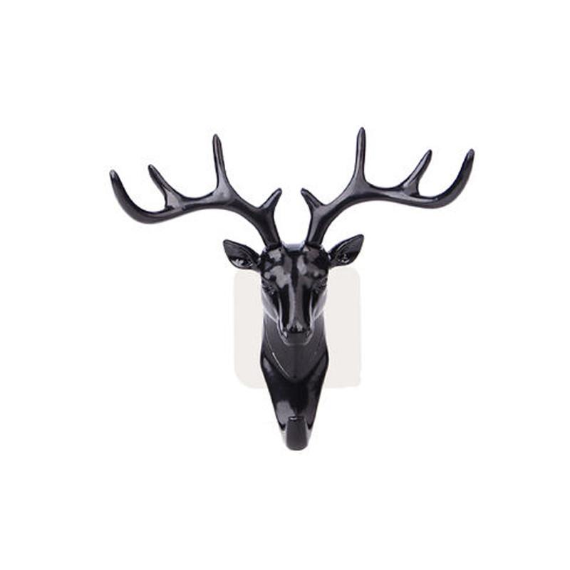 Porte-chapeau en forme de cerf | Crochet mural, bois de tête de cerf Vintage, pour suspendre les vêtements, écharpe porte-clés cornes de cerf, décoration murale