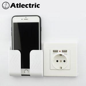 Atlectric 16A EU russie France prise de courant double Port USB adaptateur mural charge 2A chargeur mural adaptateur prise USB