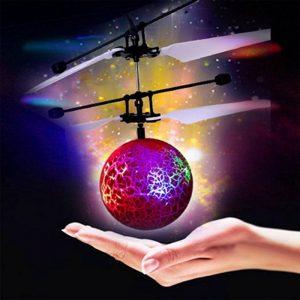Infrarouge Induction Drone volant Flash LED boule d'éclairage hélicoptère enfant enfant jouet geste-détection pas besoin d'utiliser la télécommande