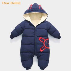 2020 salopette hiver combinaison bébé nouveau-né Plus velours snowsuit vêtements de neige manteau garçon chaud barboteuse bas coton fille vêtements body