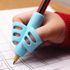 Porte-stylo TPR véritable à deux doigts | Porte-crayons, douille de stylo, outil d'écriture, de correction, stylo, support de correcteur, manche de support