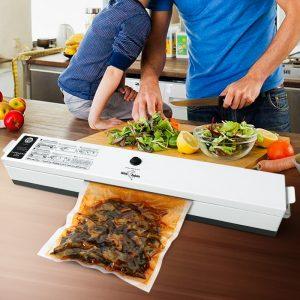 Machine d'emballage de scelleur sous vide de nourriture de ménage 110V 220V Film scellant emballeur sous vide 15 sacs scelleur de nourriture sous vide