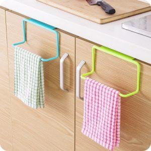 Porte-serviettes pour salle de bain cuisine de haute qualité porte-serviettes support suspendu organisateur salle de bain armoire placard cintre 8.30