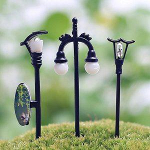 Décoration de jardin 5 pièces pour maison de poupée fée | Figurines féeriques artisanales Miniatures, Pot de plantes, Figurines de fée, décor de jardin pour arbres