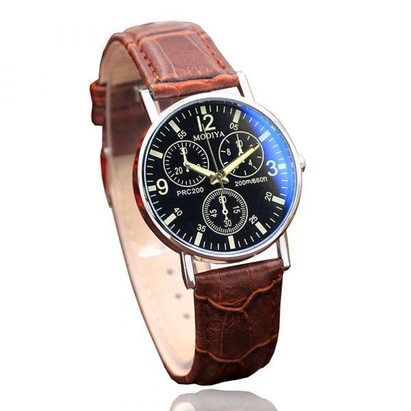 GEMIXI 2019 nouveau traitement exquis de luxe Six broches montres Quartz montre pour hommes bleu verre ceinture montre hommes 328