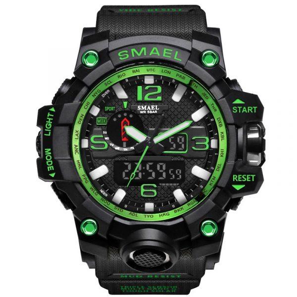 SMAEL marque hommes sport montres double affichage analogique numérique LED électronique Quartz montres étanche natation militaire montre