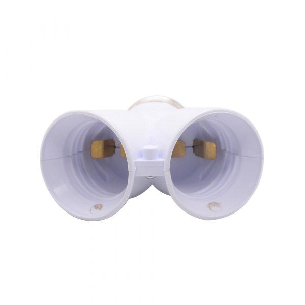 1 pièces couleur blanche ignifuge matériau convertisseur prise Conversion ampoule Base E27 à 2 E27 support de lampe convertisseur