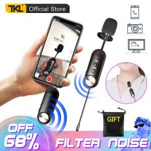 TKL UP-1 Microphone Lavalier sans fil UHF micro cravate caméra enregistrement vocal entretien micro pour téléphone portable et appareils photo reflex