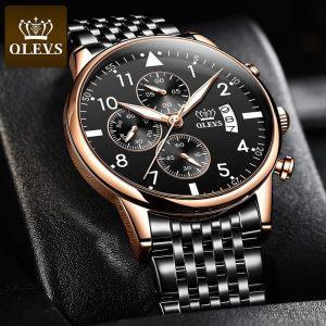 OLEVS Top Original montre pour hommes mode étanche montre pour hommes multifonctionnel chronographe sport numérique montre lumineuse
