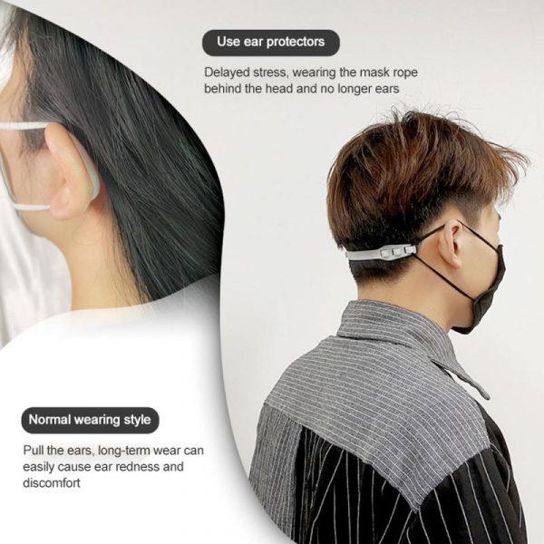3 pièces masque facial oreille crochets boucle enfants adulte réglable Protection d'oreille anti-dérapant masque Extension crochet Anti-douleur d'oreille crochet réutilisable